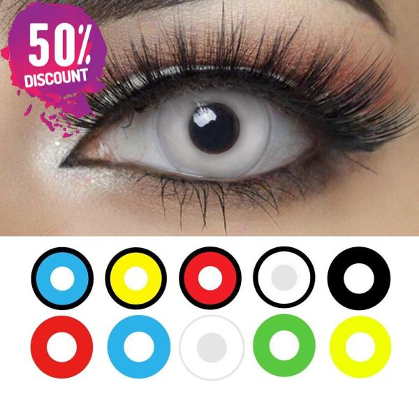 Cosplay Blackout Whiteout Contacts Halloween Eye Lenses-1 Year Use-Premium Quality Eye Contact Lenses FREE SHIPPING 3