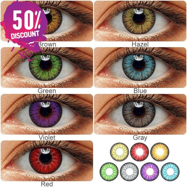 Radiant Bright Colored Eye Contact Lenses-7 Colors Available-1 Year Use-Premium Quality Eye Contact Lenses FREE SHIPPING 3