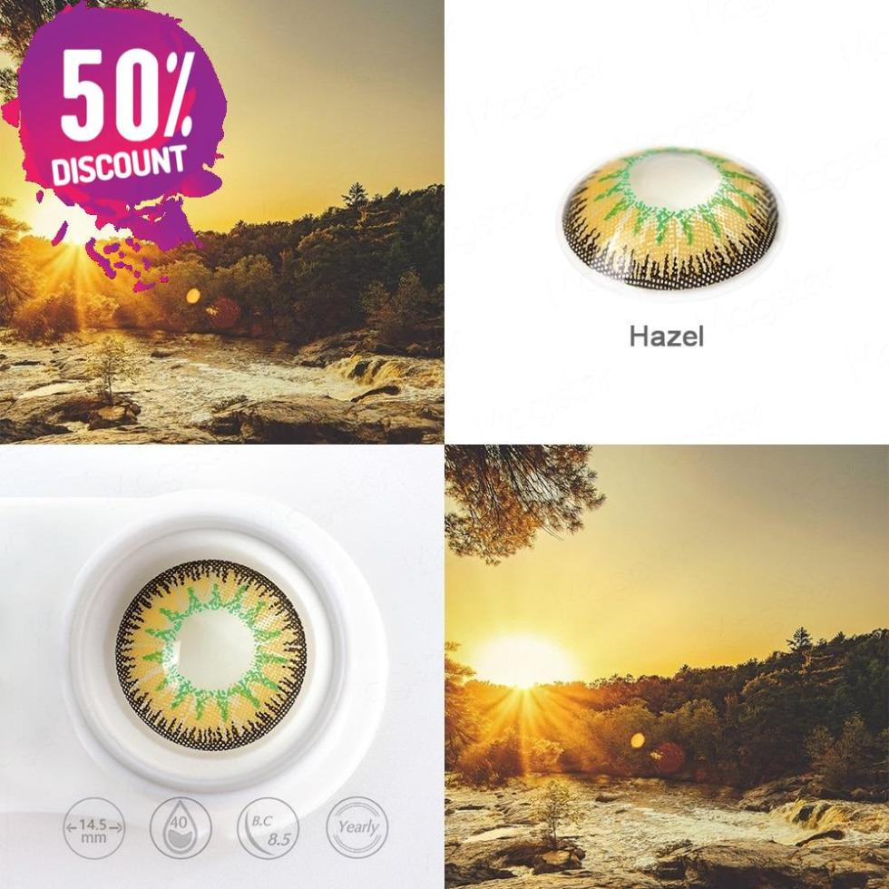 Radiant Bright Colored Eye Contact Lenses-7 Colors Available-1 Year Use-Premium Quality