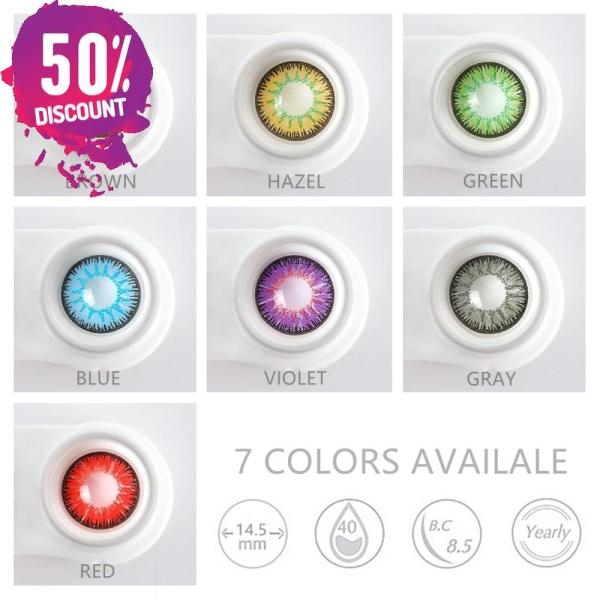Radiant Bright Colored Eye Contact Lenses-7 Colors Available-1 Year Use-Premium Quality Eye Contact Lenses FREE SHIPPING 4