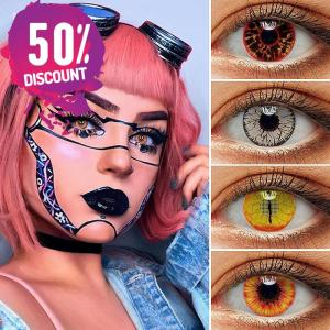 Crazy Colored Cosplay Eye Contact Lenses for Halloween Anime Eyes-1 Year Use Eye Contact Lenses FREE SHIPPING