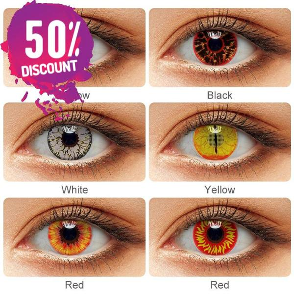 Crazy Colored Cosplay Eye Contact Lenses for Halloween Anime Eyes-1 Year Use Eye Contact Lenses FREE SHIPPING 4