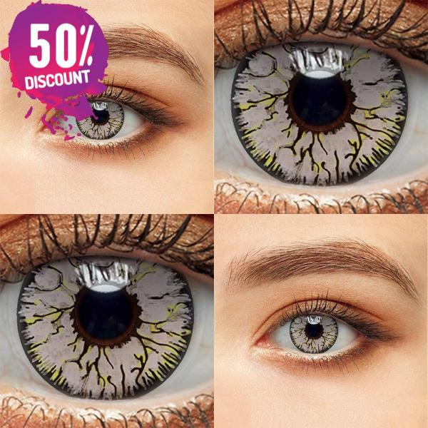 Crazy Colored Cosplay Eye Contact Lenses for Halloween Anime Eyes-1 Year Use Eye Contact Lenses FREE SHIPPING 6