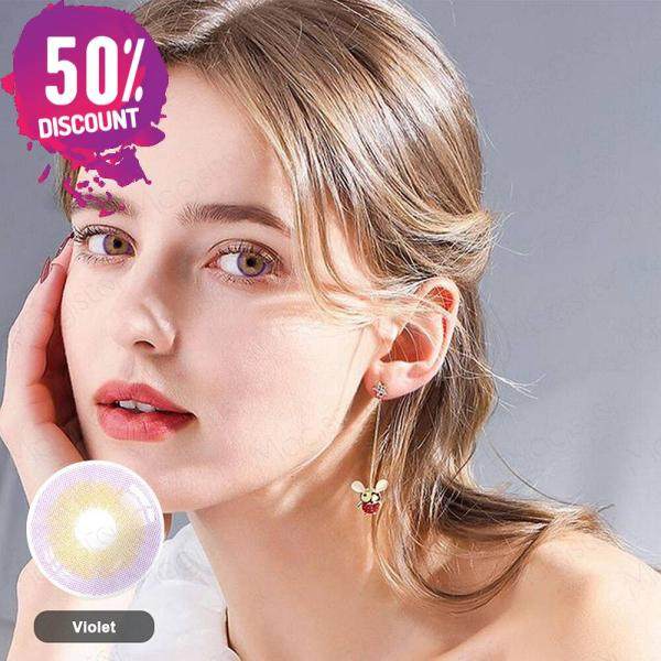 Violet Purple Shades Colored Eye Contact Lenses -1 Year Use- Premium Quality Eye Contact Lenses FREE SHIPPING 6
