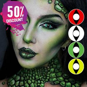 Red Green White Yellow Cat Eyes Cosplay Halloween Eye Contact Lenses-1 Year Use Eye Contact Lenses FREE SHIPPING