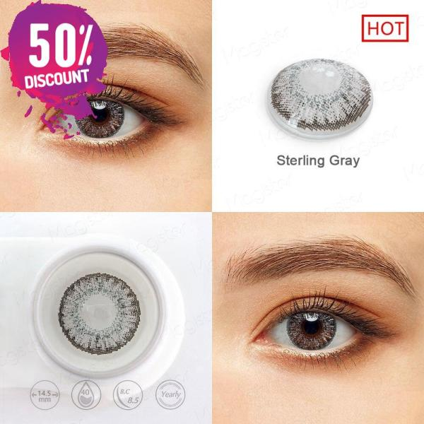 3 Tones Star Blue Green Brown Grey Colored Eye Contact Lenses for A Natural Sexy Look Eye Contact Lenses FREE SHIPPING 6
