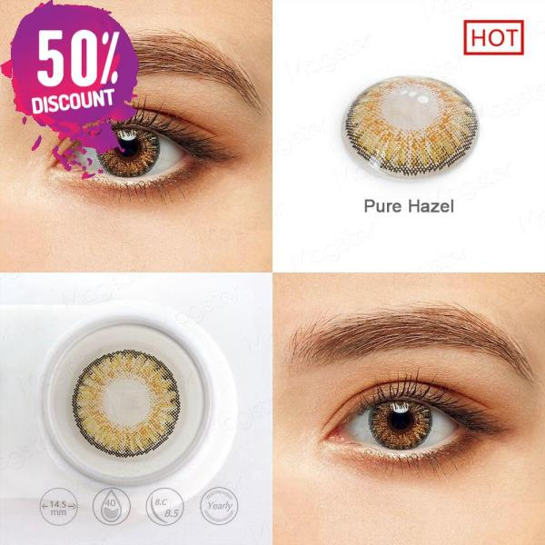 3 Tones Star Blue Green Brown Grey Colored Eye Contact Lenses for A Natural Sexy Look Eye Contact Lenses FREE SHIPPING 7