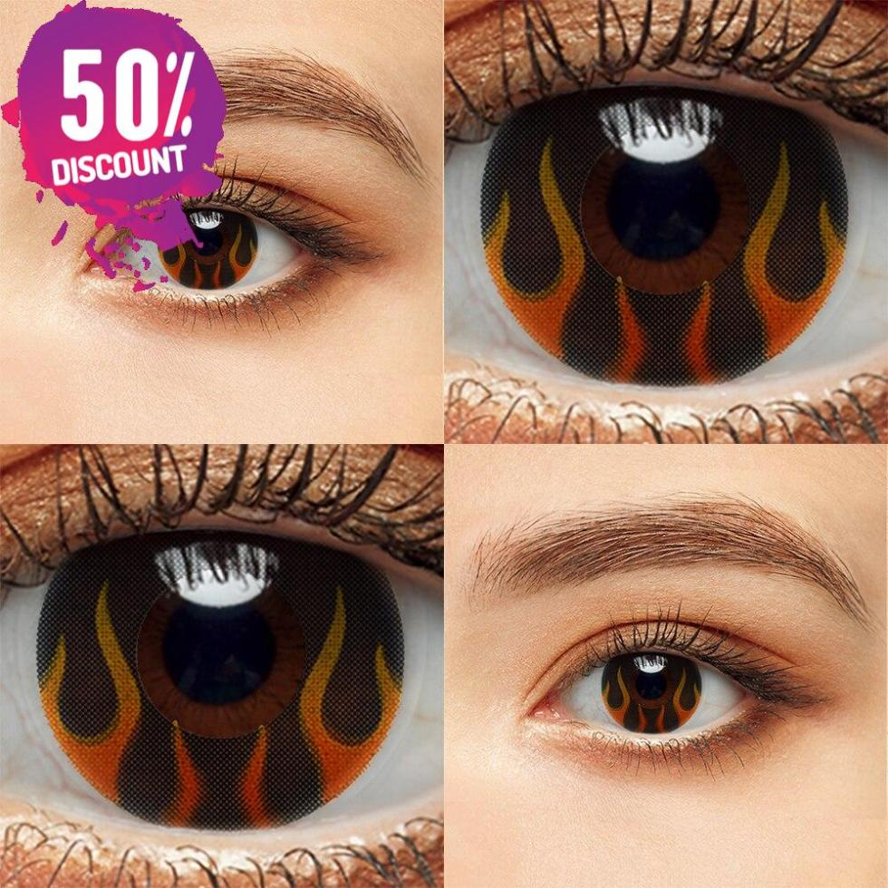 Colored Cosplay Eye Contact Lenses Halloween Crazy Lenses For Anime Look- Premium Quality