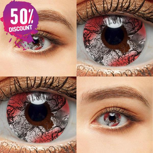 Colored Cosplay Eye Contact Lenses Halloween Crazy Lenses For Anime Look- Premium Quality Eye Contact Lenses FREE SHIPPING 6