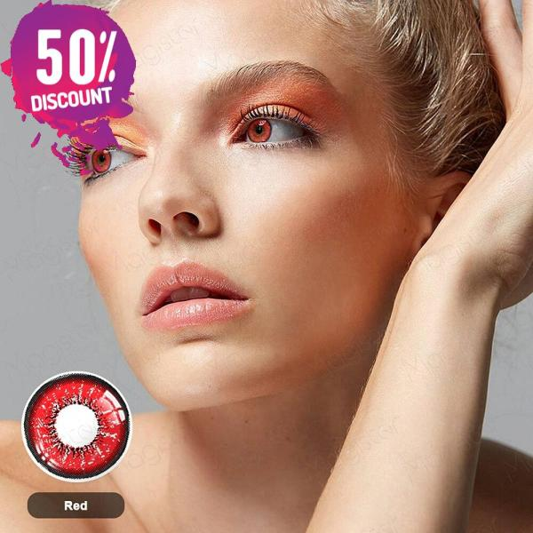 Flame Colored Eye Contact Lenses for Colorful Candy Bright Color Eyes-1 Year Use-Premium Quality Eye Contact Lenses FREE SHIPPING 7