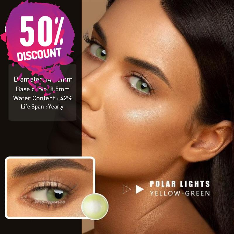 Prescription Colored Contacts For Myopia Hydrolocor Gray Green Nrown Color Contact Lenses-1 Year Use