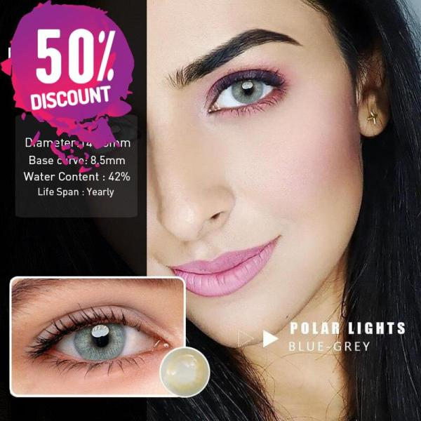 Prescription Colored Contacts For Myopia Hydrolocor Gray Green Nrown Color Contact Lenses-1 Year Use Eye Contact Lenses FREE SHIPPING 5