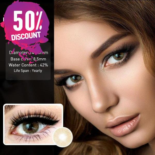 Prescription Colored Contacts For Myopia Hydrolocor Gray Green Nrown Color Contact Lenses-1 Year Use Eye Contact Lenses FREE SHIPPING 4