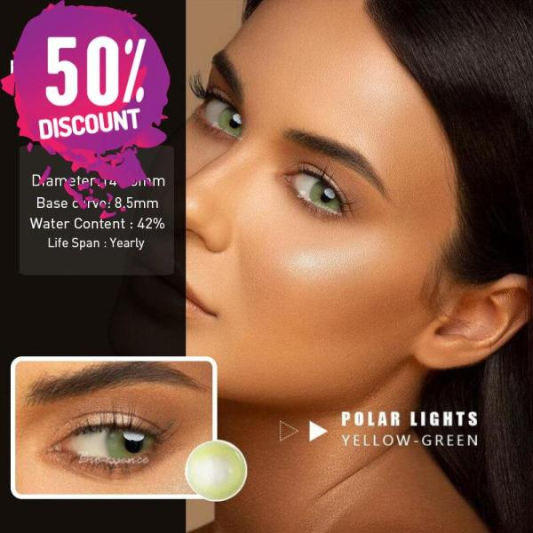Prescription Colored Contacts For Myopia Hydrolocor Gray Green Nrown Color Contact Lenses-1 Year Use Eye Contact Lenses FREE SHIPPING 7