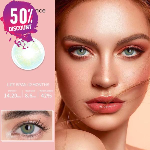Prescription Colored Contacts For Myopia Natural Gray Green Blue Brown Eye Contact Lenses-1 Year Use Eye Contact Lenses FREE SHIPPING 4