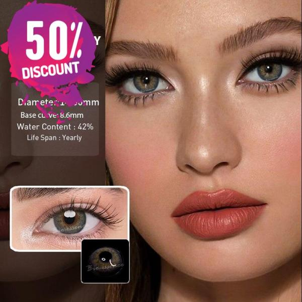 Prescription Colored Contacts For Myopia Russian Blue Brown Gray Eye Contact Lenses-1 Year Use Eye Contact Lenses FREE SHIPPING 7
