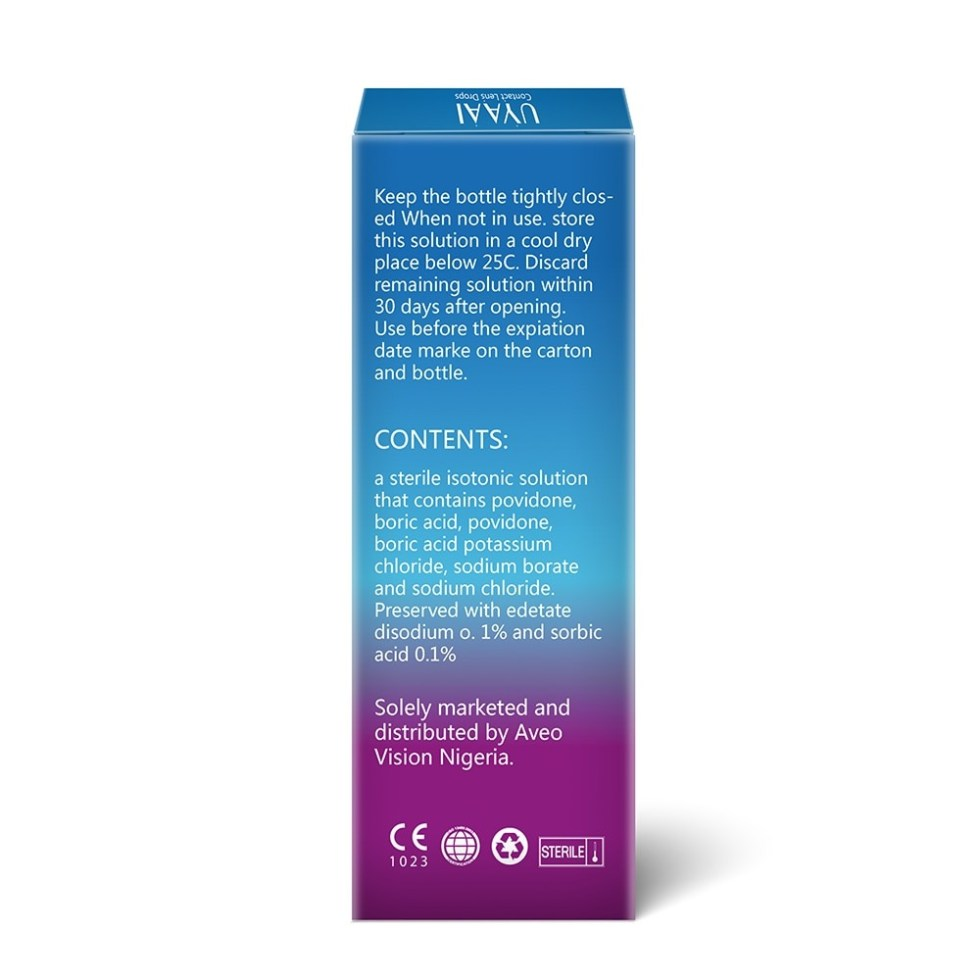 Contact Lens Solution Liquid For Cleaning and Health Care 10ml Eye Drops