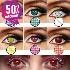 Mesh Colored Contact Lenses for Cosplay Halloween Anime Events Eye Contact Lenses FREE SHIPPING