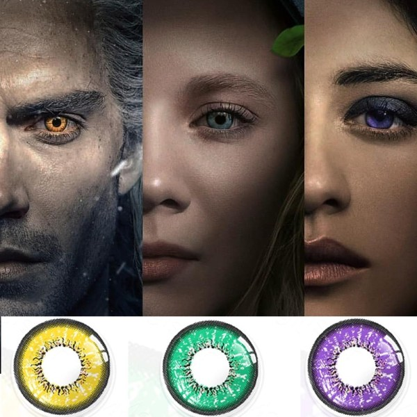 Witcher Contact Lenses Geralt of Rivia Yennefer Ciri Cosplay Colored Contacts Perfect for Halloween Eye Contact Lenses FREE SHIPPING 3