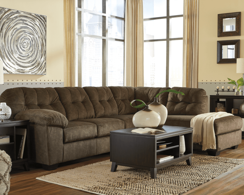 accrington earthy brown sectional