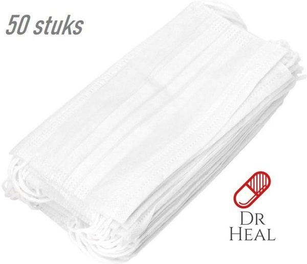 Mondkapje 50 stuks - Mondkapjes medisch - Mondkapjes met elastiek - Mondkapjes met filter - Mondmaskers - Wegwerp mondkapjes - Mondkapjes ffp3