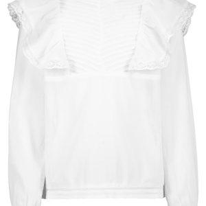 AO76 blouse Sadie voor meisjes wit