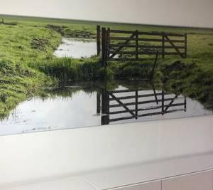Foto verlijmd achter acrylaat 40x120 cm