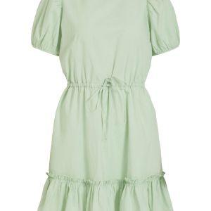 VILA Puff Sleeved Mini Dress Dames Green