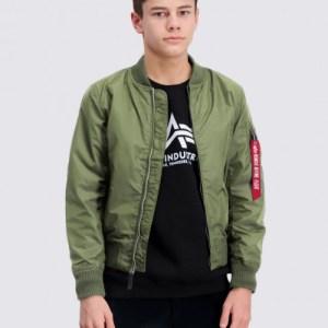 Alpha Industries, MA-1 TT Jacket, Groen, Jassen/fleece/vesten till Jongens, 16 jaar