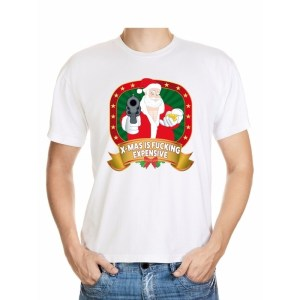 Foute kerst shirt wit - X-mas is fucking expensive - voor heren