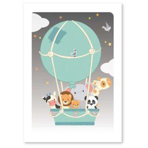 Studio Circus A6 Kaart Luchtballon