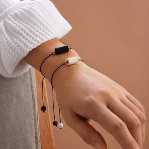 2 stks vulkanische steen Decor String paar armband