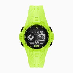 PUMA BOLD DIGITAL horloge, Zwart/Geel/Aucun