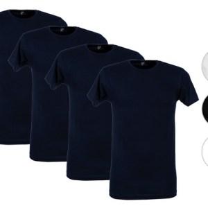 4x Alan Red Basic T-Shirt