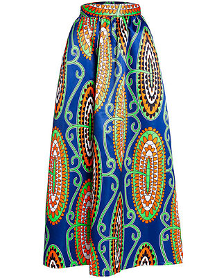 Extraordinary Printed Flared Maxi Skirt