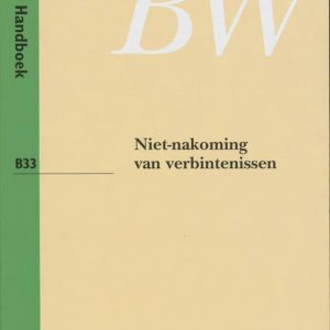 Monografieen Nieuw BW B33 - Niet-nakoming van verbintenissen