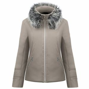 Vrouw Softshell Jack Dove Brown