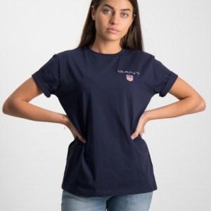 Gant, MEDIUM SHIELD T-SHIRT, Blauw, T-shirts/tanktops till Meisjes, 122-128 cm