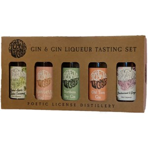 Poetic License Gin&Gin Liqueur Proefset 5 x 5cl