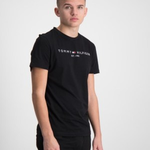 Tommy Hilfiger, ESSENTIAL TEE S/S, Zwart, T-shirts/tanktops till Jongens, 12 jaar