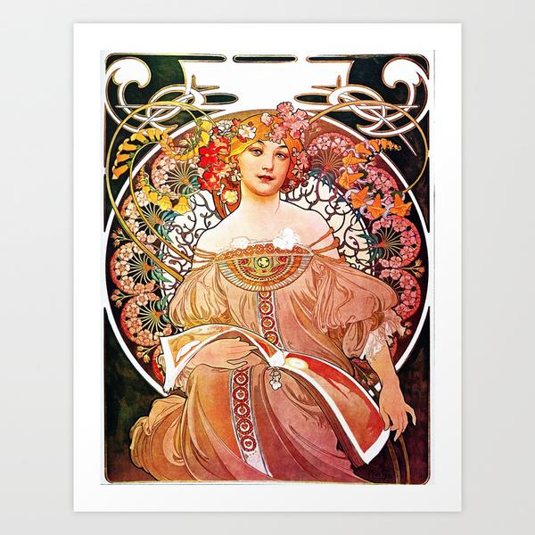 Alphonse Mucha Daydream Art Print