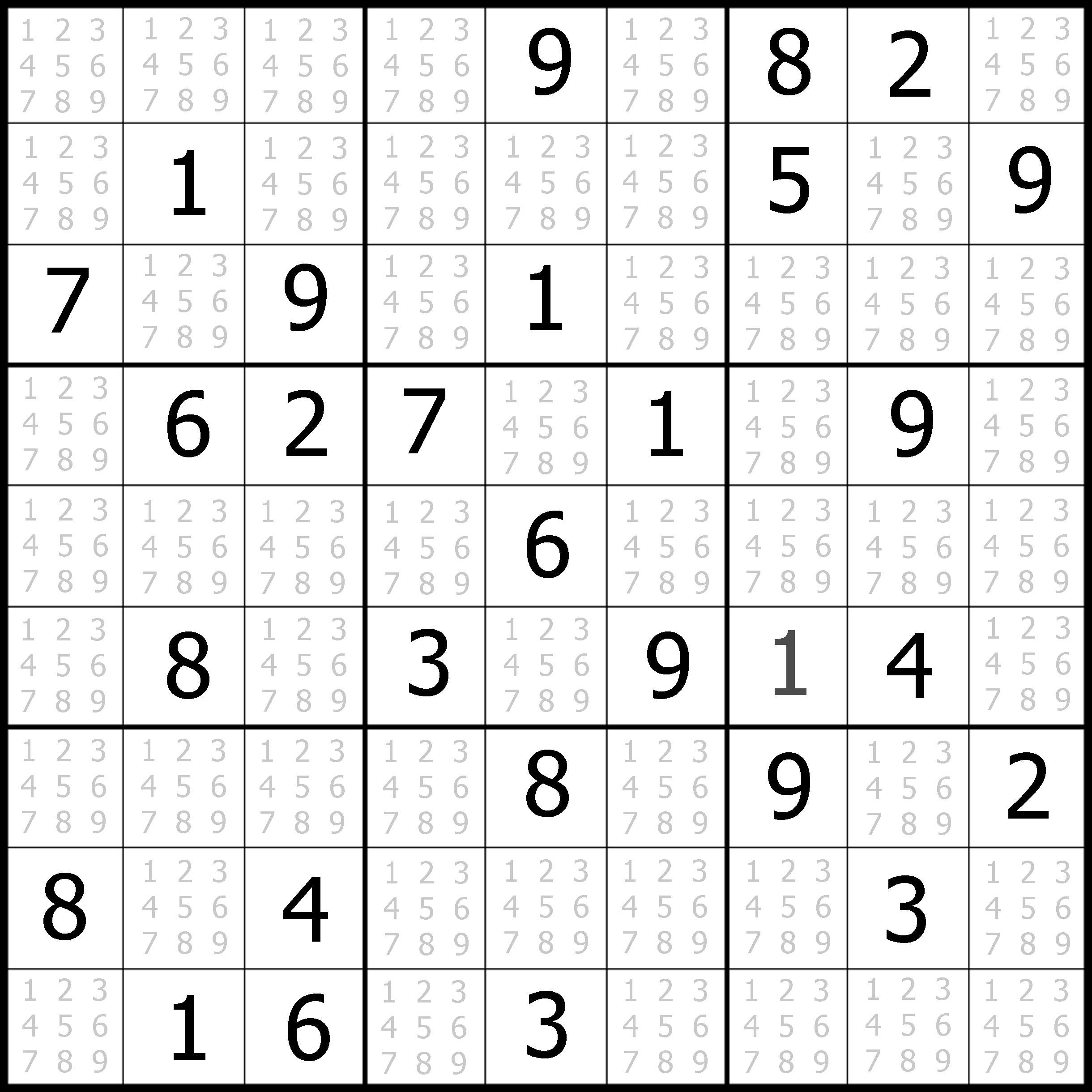 Printable Blank Sudoku Worksheets