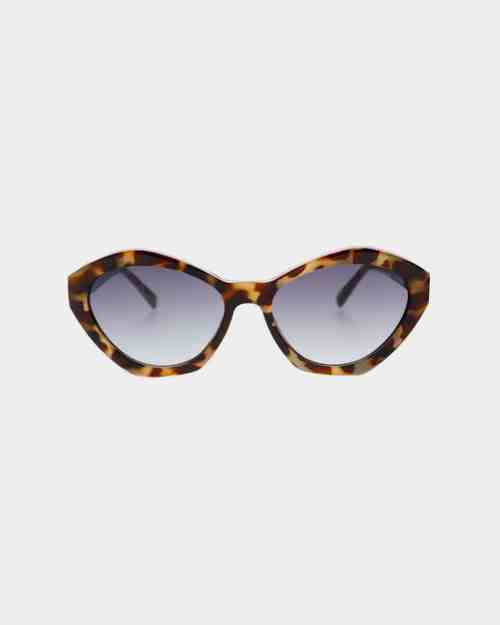 Tortoise framed sunglasses with grey lenses