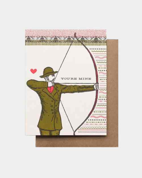 Be Mine Arrows Card