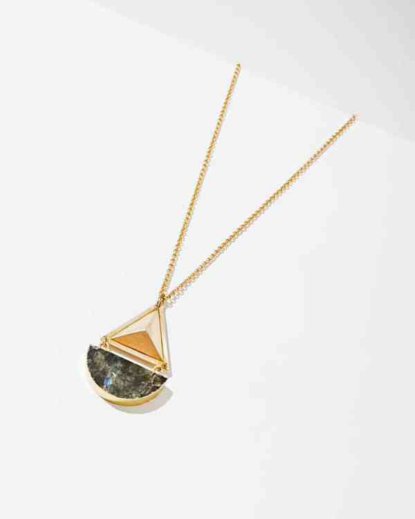Geo Necklace Labrodite