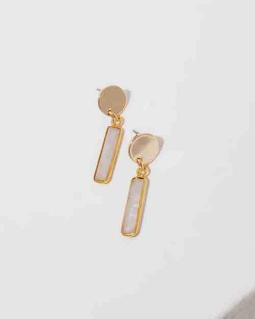 brass and pink earrings