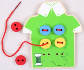 Montessori-Baby-Toys-2-Kinds-Wear-The-Button-Wooden-Toys-Educational-Threading-Board-Beaded-Bocks-Child