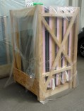 Crated and wrapped