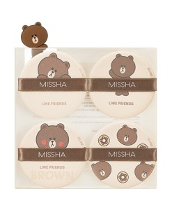 Missha x Line Friends Tension Pact Puff Fitting Brown