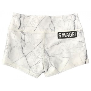 Booty Shorts Savage Barbell White Marble